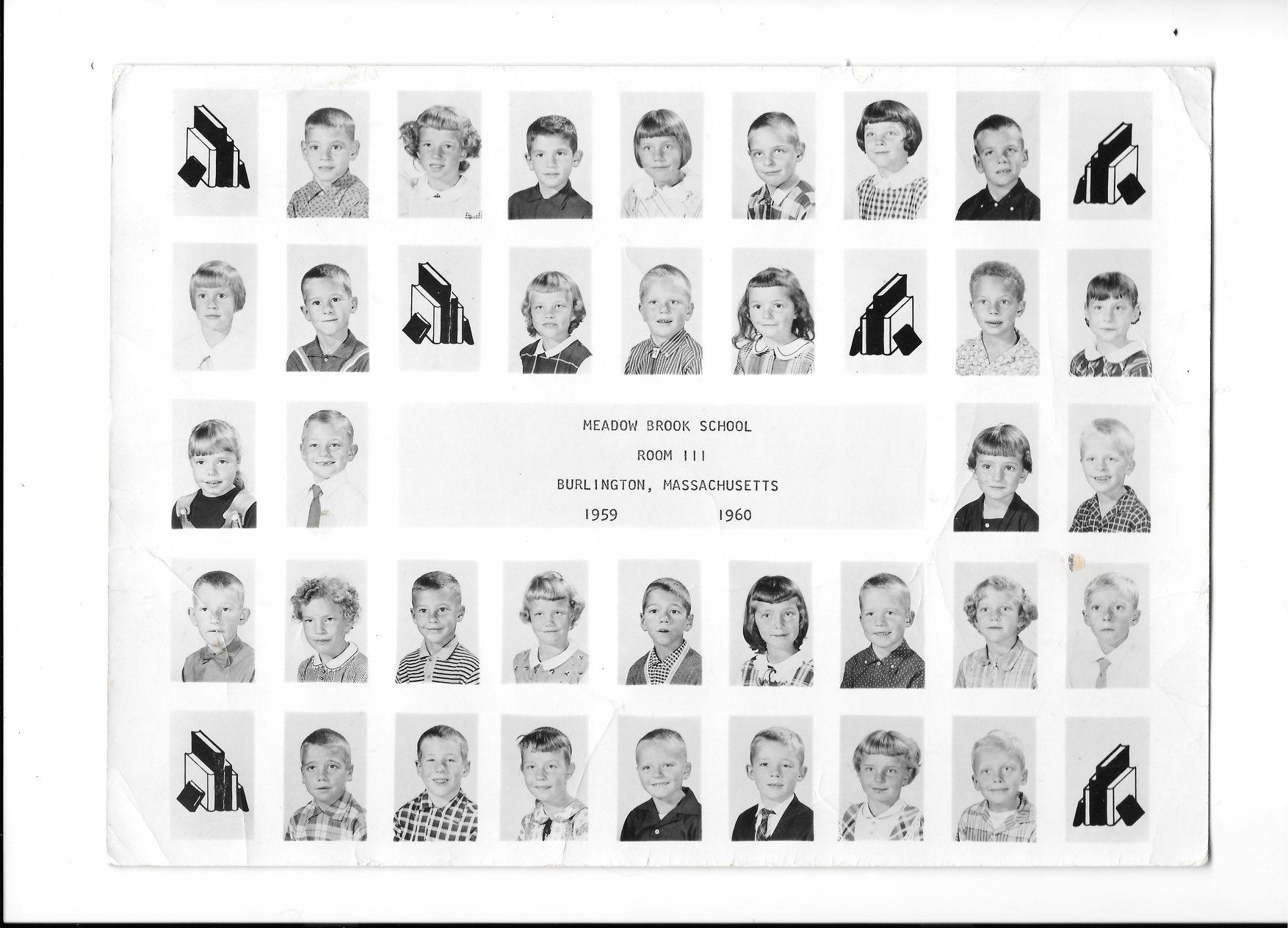 Meadow Brook School Room 111 1959 to 1960, Burlington MA