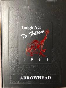 Burlington High School yearbook cover 1996, Burlington MA