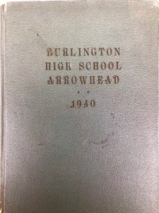 Burlington High School 1940 yearbook cover Burlington MA