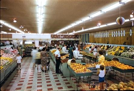 IGA Foodliner produce area Burlington MA 1962