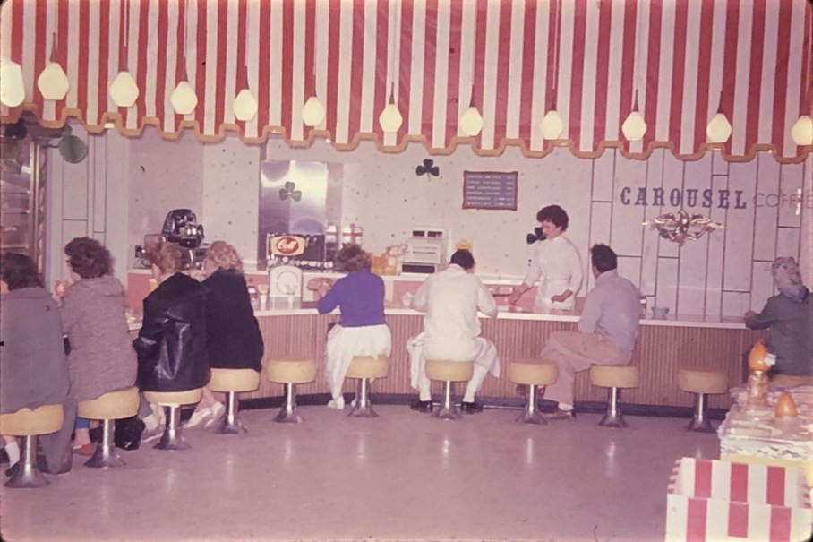 IGA Foodliner refreshment bar Burlington MA 1962