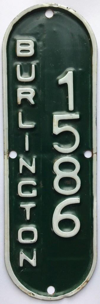 Dianne Ballon's bicycle license plate Burlington MA