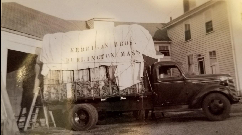 Kerrigan Bros. farm truck Burlington MA. Photo credit: Joyce Kerrigan