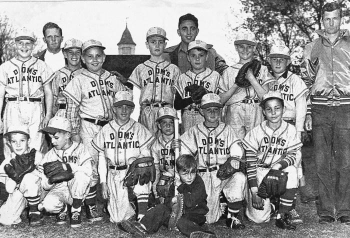 1952 Dom's Atlantic little league team, Burlington MA