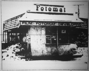 Fotomat next to Dunkin' Donuts c. 1985, Burlington MA