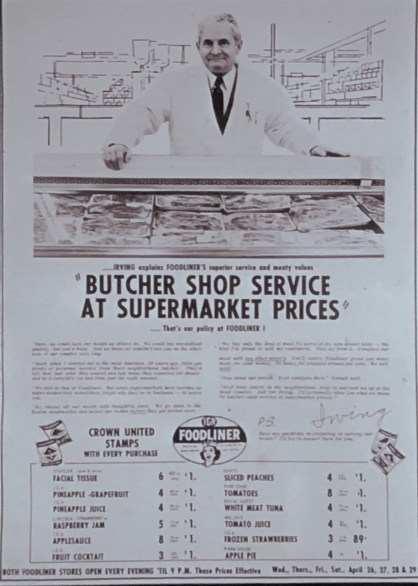 IGA Foodliner Irving Kolovson ad Burlington MA