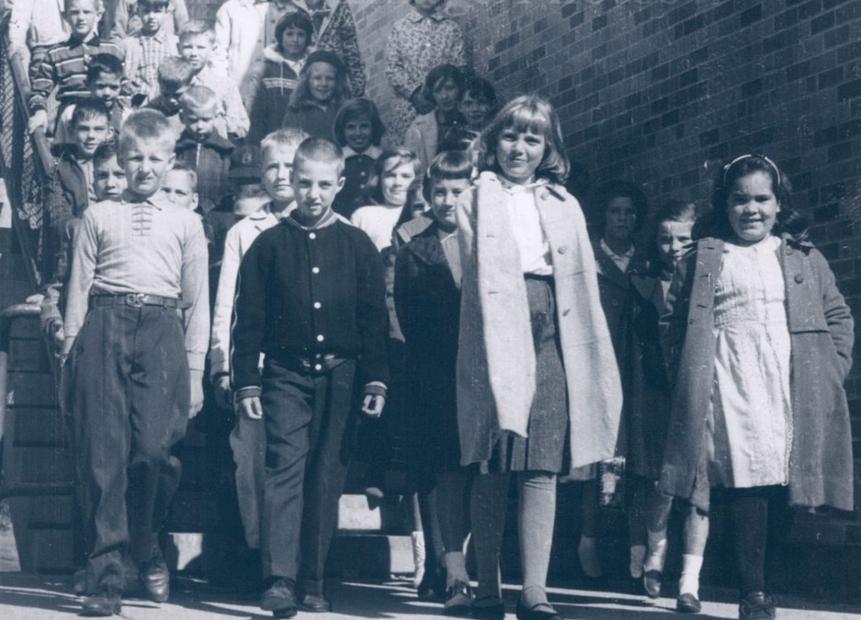 Pine Glen Elementary School students 1963 Burlington MA