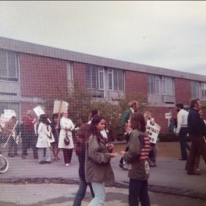 High School faculty picketing early 1970s Burlington, MA