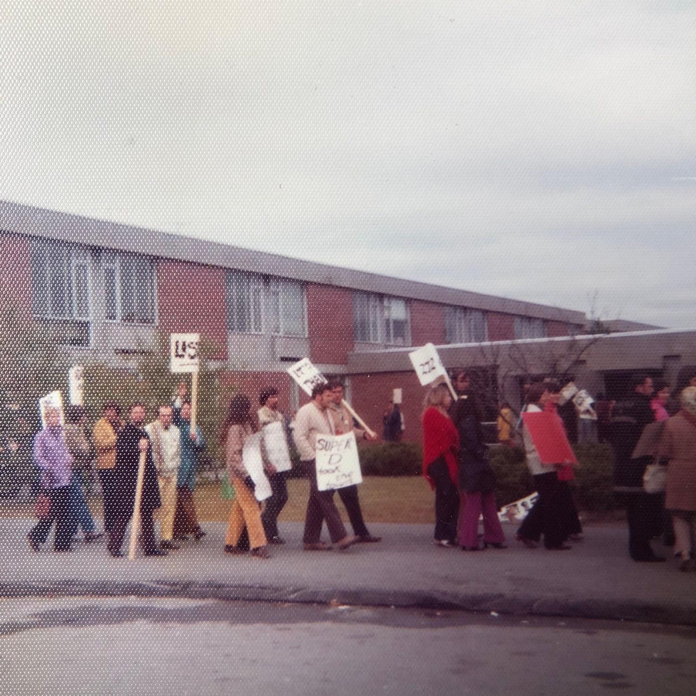 High School faculty picketing early 1970s Burlington, MA 2