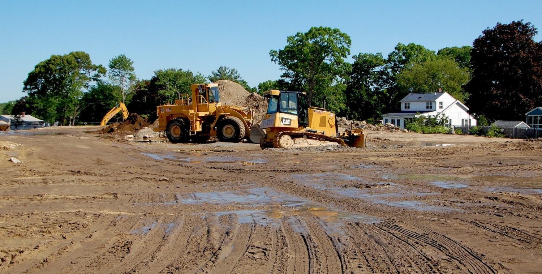 Shoppes At Simonds Park Burlington MA excavation 3
