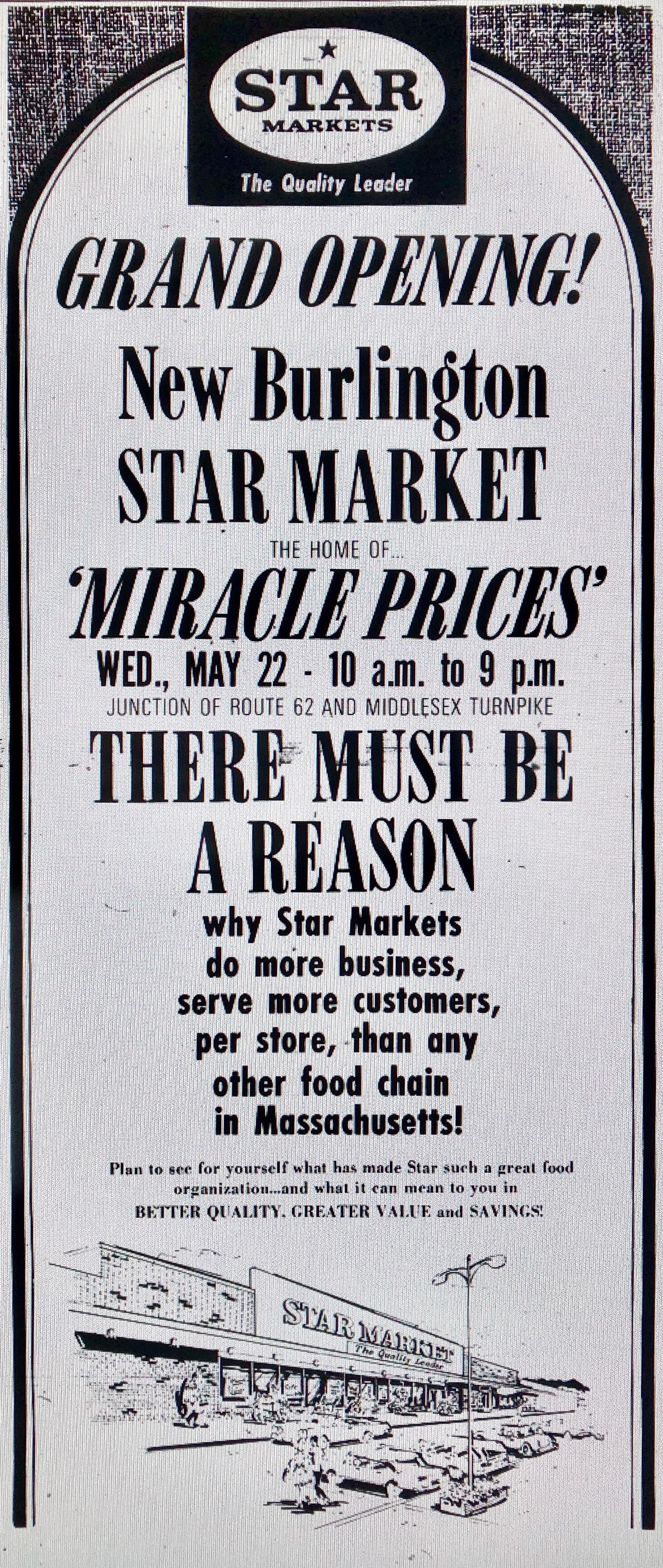 Star Market grand opening Burlington MA