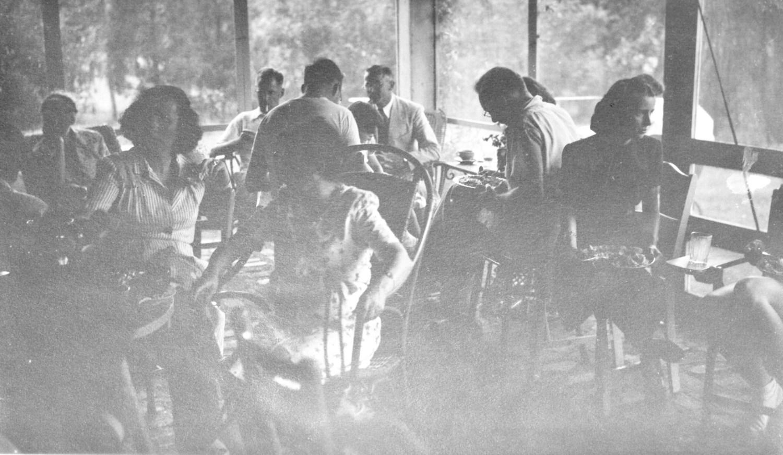 Burns gathering, screened porch