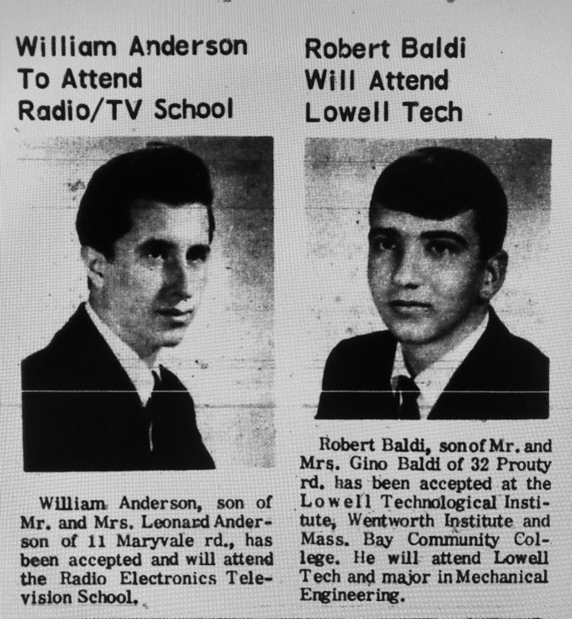 William Anderson Robert Baldi Burlington MA