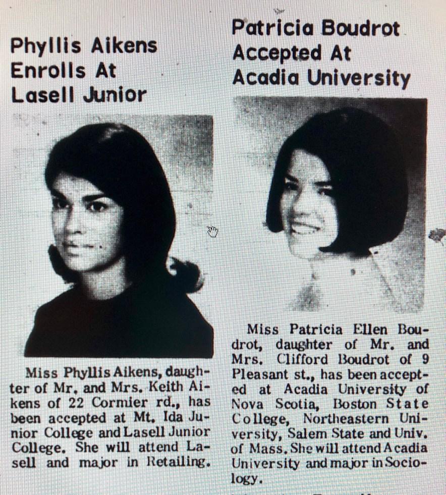 Phyllis Aikens Patricia Boudrot Burlington MA