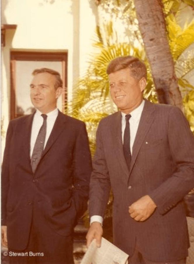 James MacGregor Burns with JFK in 1960