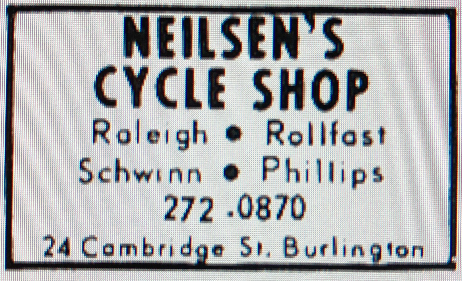 Neilsen's Cycle Shop Burlington MA