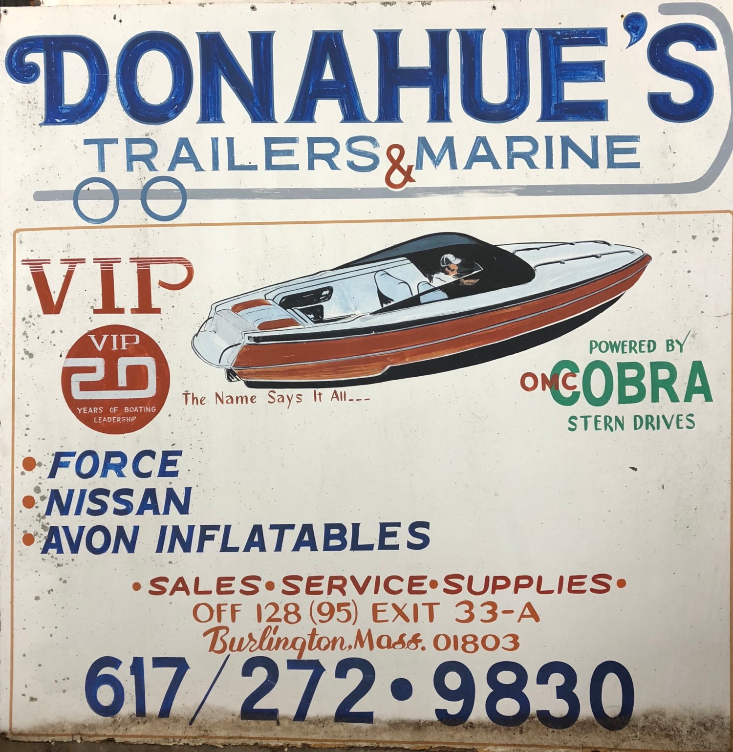 Donahue's Trailers & Marine sign Burlington MA