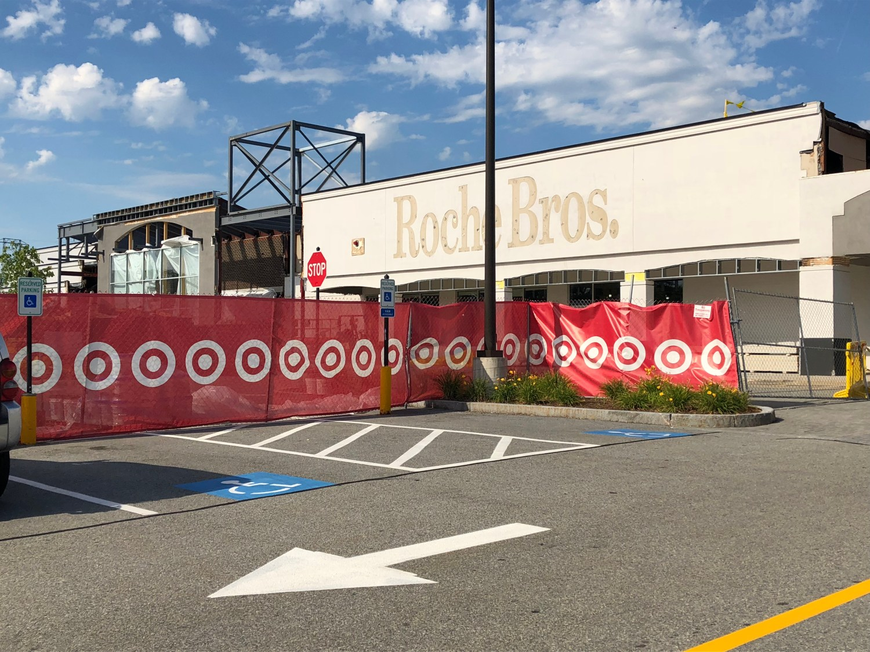 Roche Bros. location becoming Target, taken July 2018 Burlington MA