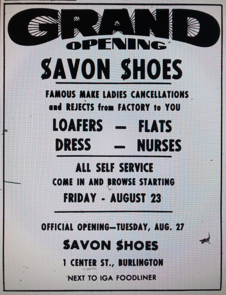 Savon Shoes ad, Burlington MA