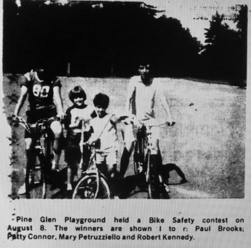 Pine Glen bike safety contest, Burlington MA
