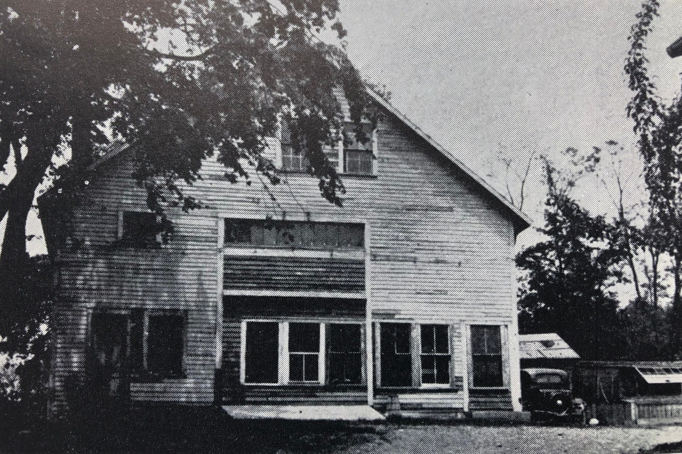 """The Barn"" on Lowell Street, the first place of Catholic worship in Burlington"