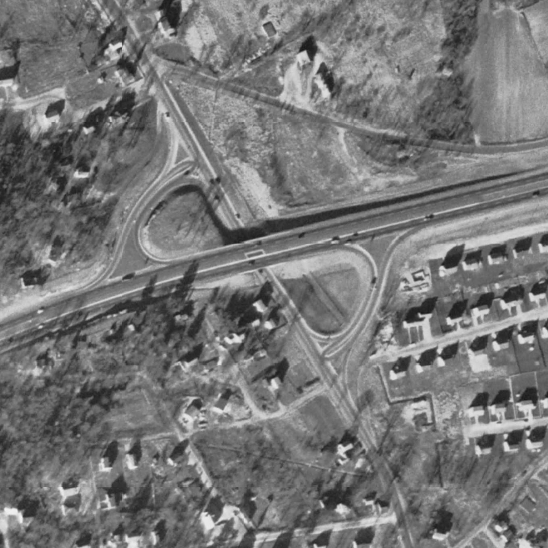 Winn_Street_half_cloverleaf-1955, Burlington MA