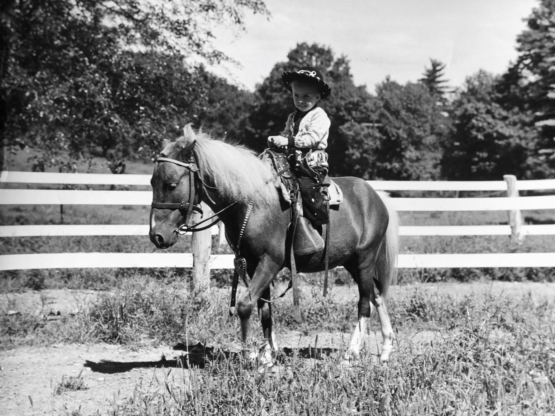 Wayne on horse closeup