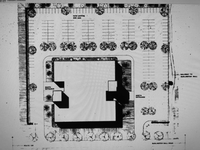 New England Executive Park site plan, Burlington MA