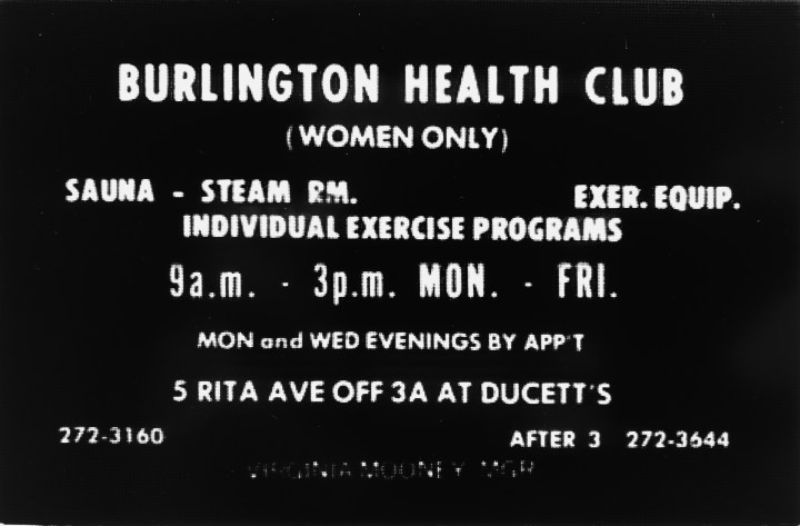 Burlington Health Club (women only), Burlington MA