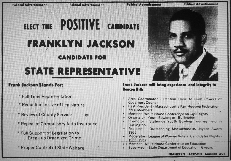 Franklin Jackson campaign ad, Burlington MA