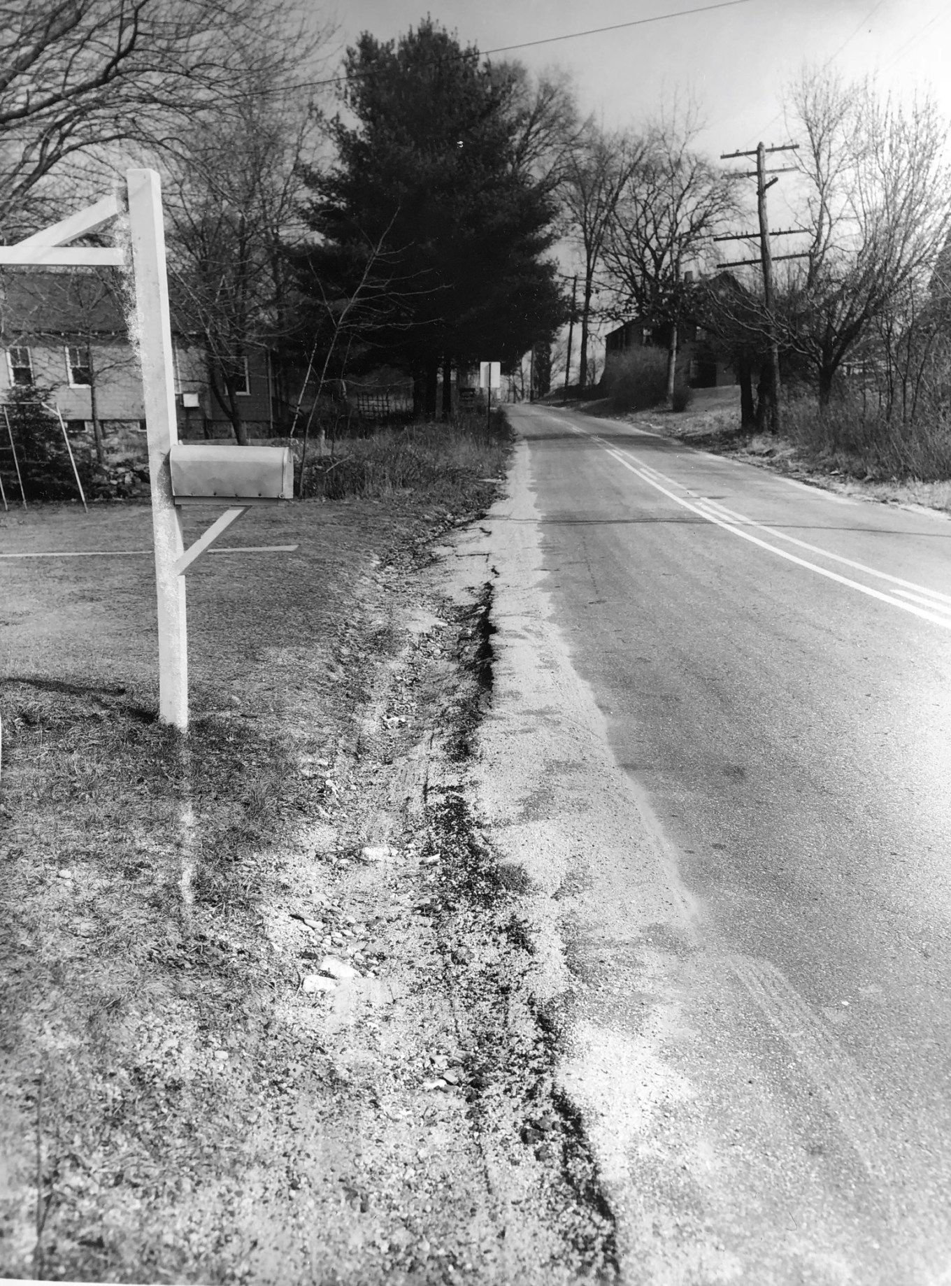 Francis Wyman Road looking uphill