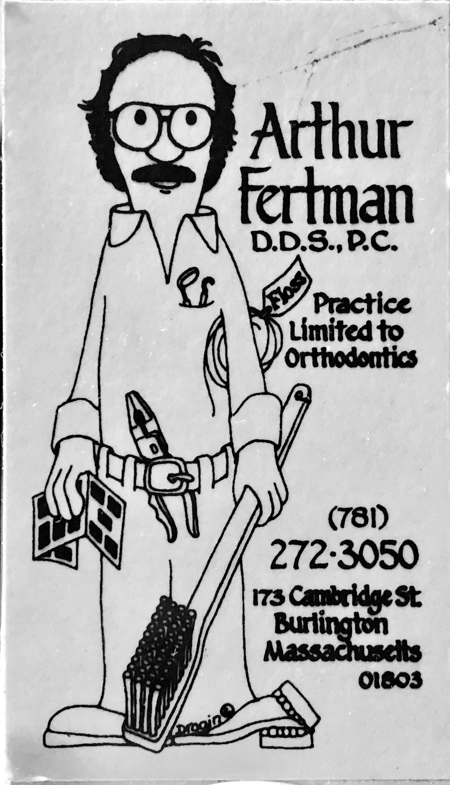 Dr. Arthur Fertman refrigerator magnet