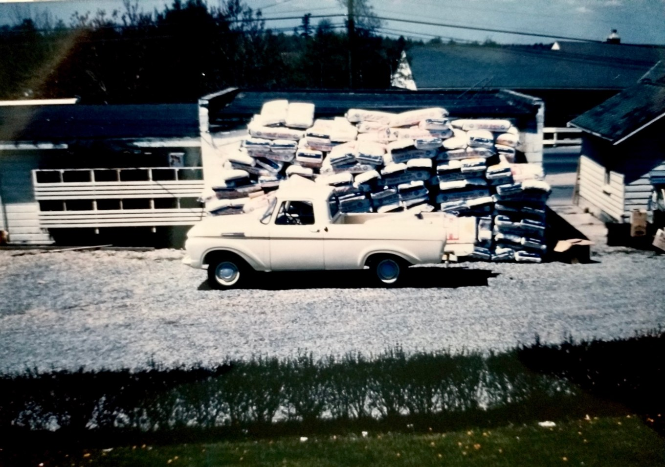 John DuCett's pickup taking some peat moss in 1962