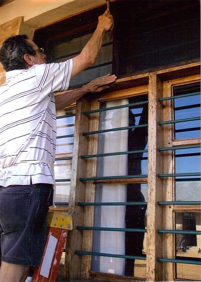 Frank DuCett, handyman, in Africa