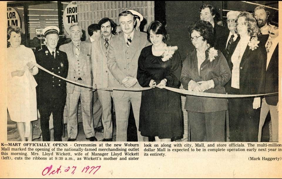 Woburn Mall grand opening 1977