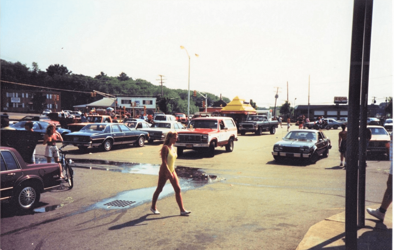Almy's parking lot late 1970s July 4