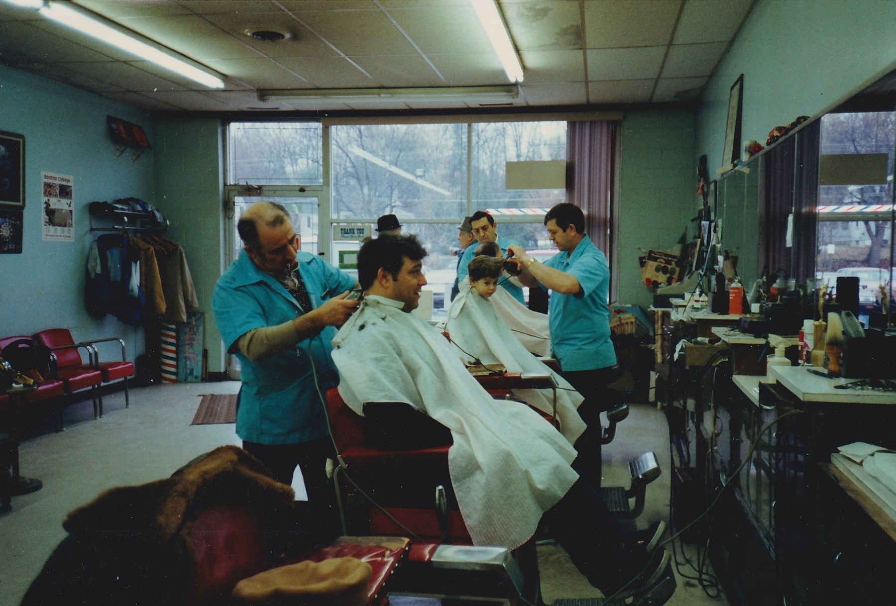 Ray's Barber Shop interior, Burlington MA c. 1989