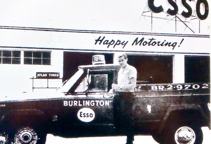 Burlington Esso Jack Kilmartin ad 2 Burlington MA