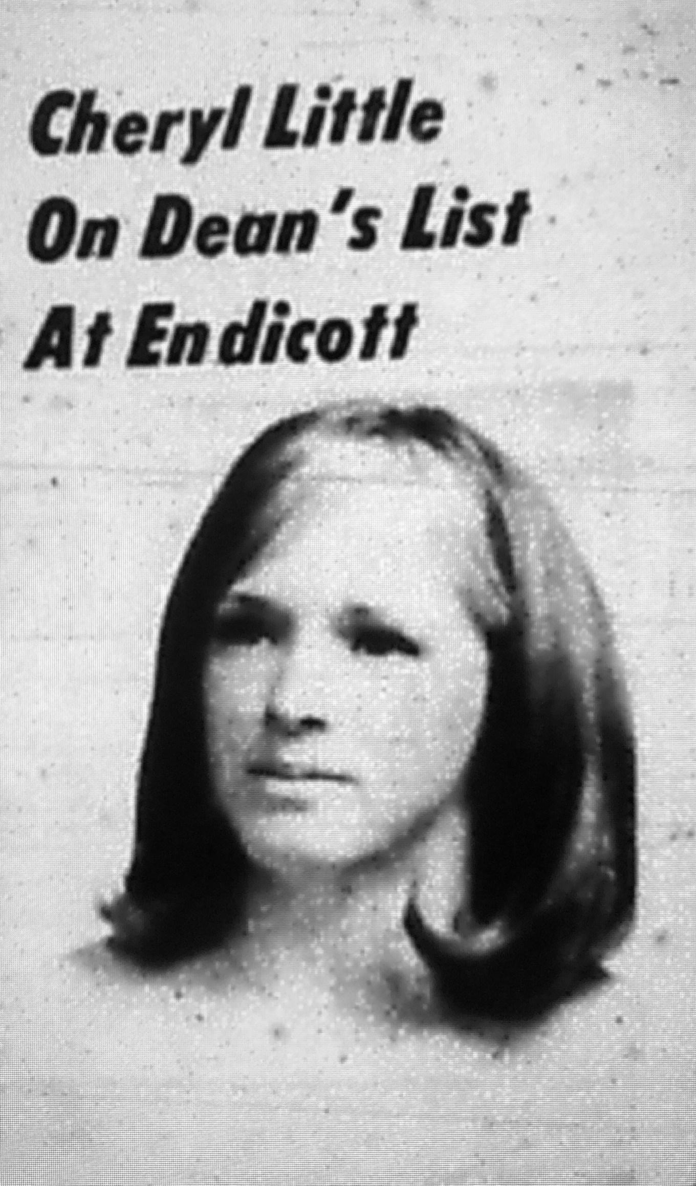 Cheryl Little dean's list Endicott