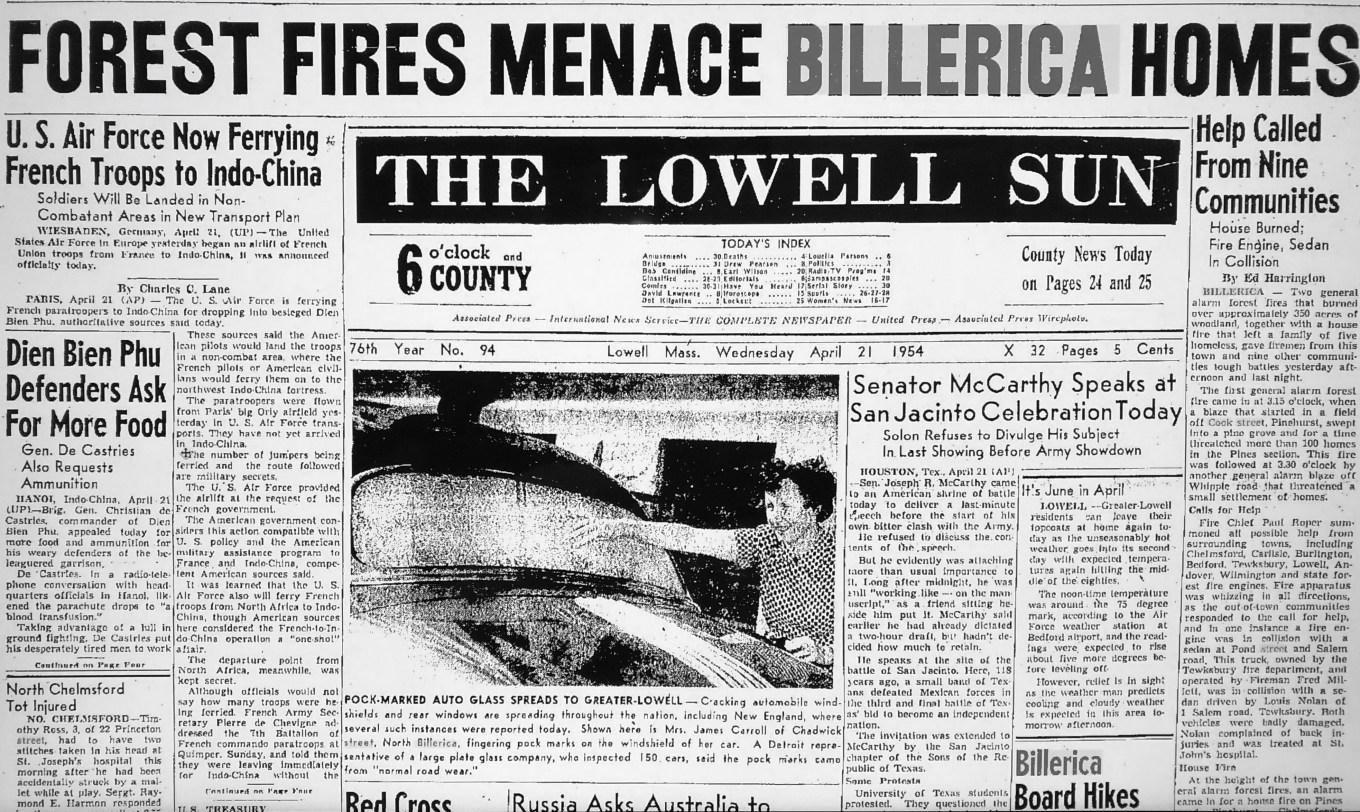 Billerica forest fires of 1954