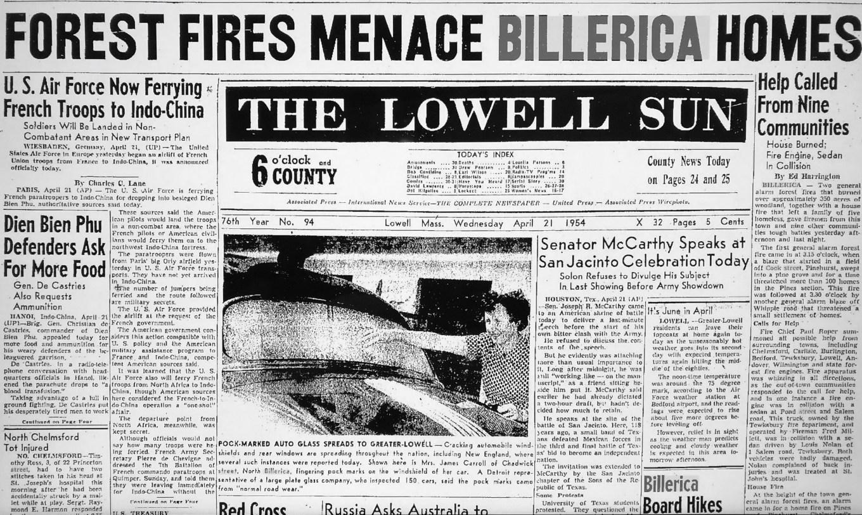 Billerica forest fires of 1954
