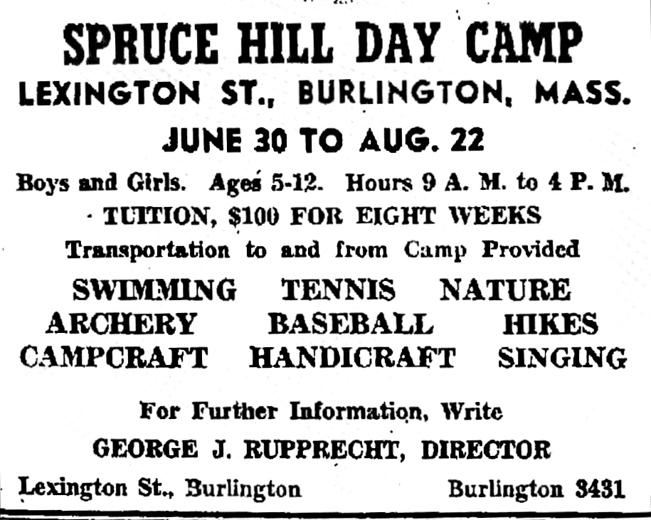 Spruce Hill Day Camp, Burlington, MA