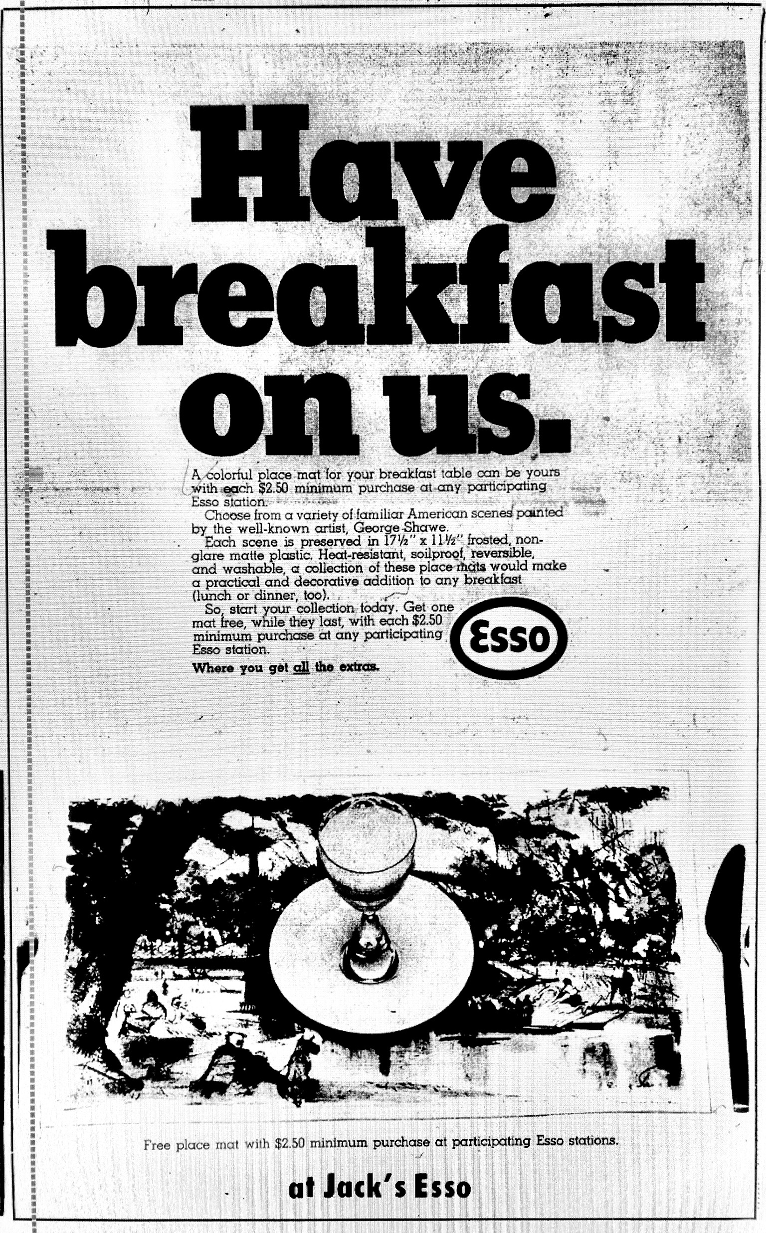 Jack's Esso breakfast