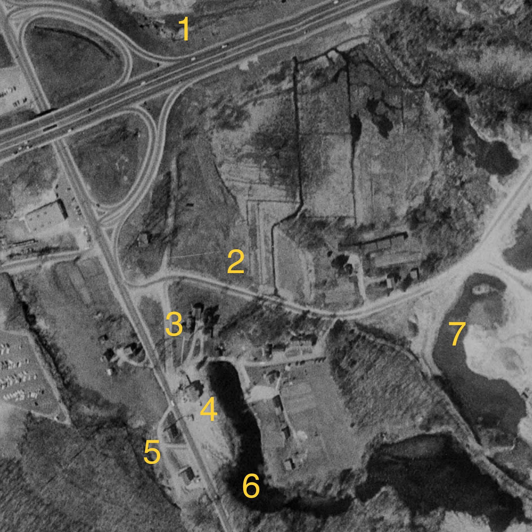 Turnpike aerial 1957, Burlington MA