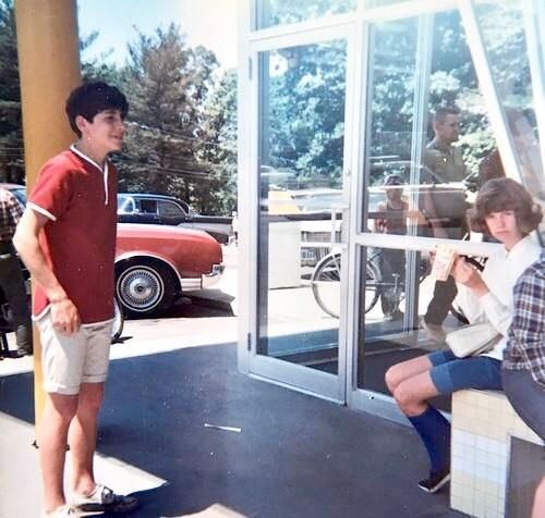 David Enos and Jackie Ballon at Kemp's, 1967