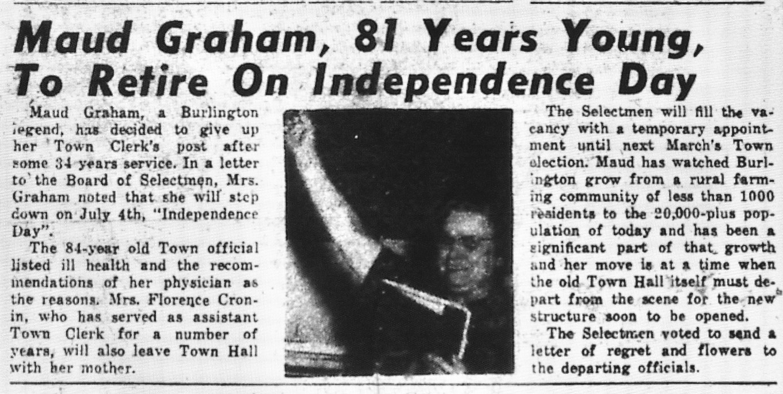 Maud Graham retirement ad