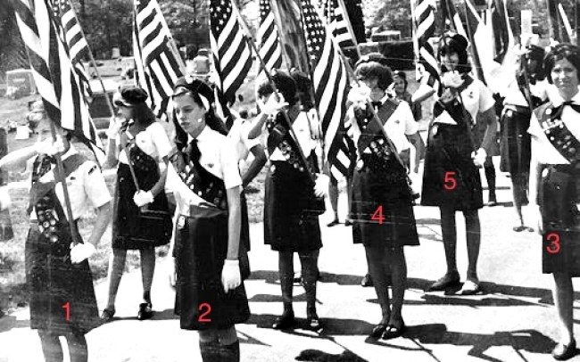 Girl Scout majorettes, Burlington MA