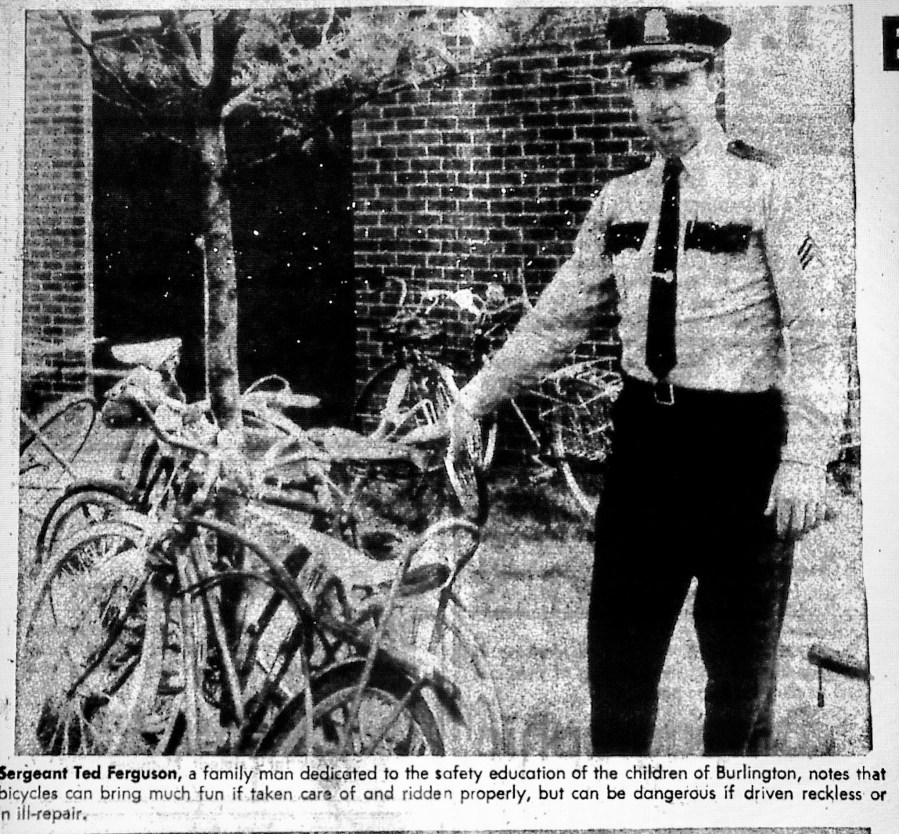 Sgt. Ted Ferguson bike safety