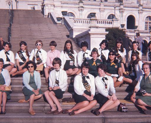 Burlington MA Girl Scouts at Capitol steps