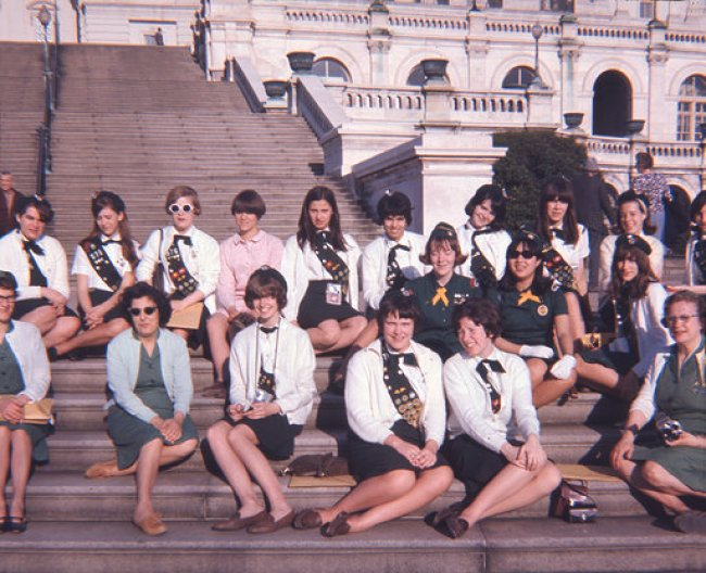 Burlington MA Girl Scouts at Capitol steps